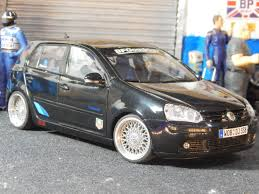 volkswagen modified vw golf fsi mkv gloss black boxed 1 18 scale total one off
