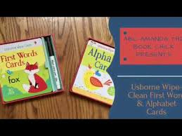 Words Cards New Release 2017 Wipe Clean First Words U0026 Alphabet Cards Usborne