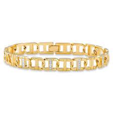 gold tone chain link bracelet images Men 39 s diamond accent pave style two tone mariner link bracelet 14k jpg