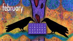 february 2015 desktop wallpaper calendar art by lindy