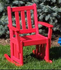 Unfinished Child S Rocking Chair Poly Wood Mission Child U0027s Rocking Chair From Dutchcrafters Amish
