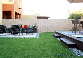 Astro Turf Backyard Home Depot Patio Style Challenge Reveal Desert Domicile