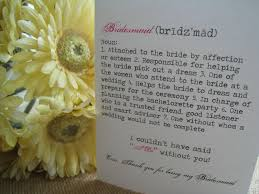 wedding wishes from bridesmaid thank you for being my bridesmaid matron of honor card