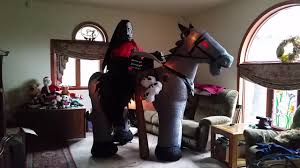 gemmy 2012 inflatable halloween 7ft animated reaper on horse youtube