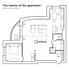 set design floor plan architectural plan of a house in top view floor plan with
