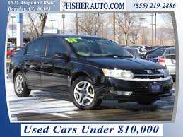 used cars under 10 000 2003 saturn ion 3 black 5 900 longmont