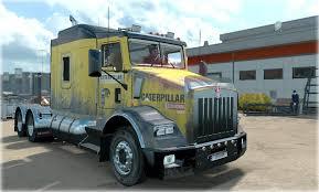 kenworth t800 truck kenworth t800 cat skin 1 22 mod euro truck simulator 2 mods