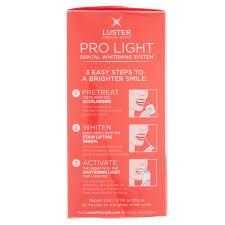 3 piece pro light teeth whitening kit system by luster premium