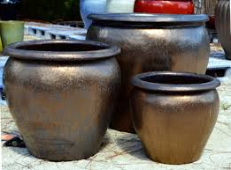 glazed ceramic pots large outdoor ceramic flower pots outdoor designs
