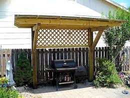 Backyard Brick Patio Design With 12 X 12 Pergola Grill Station by Pergola