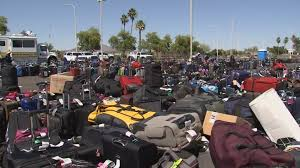 Phx Airport Map Thousands Of Bags Stranded At Phoenix Airport By Screening Snafu