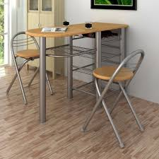Narrow Breakfast Bar Table Kitchen Dining Table Stools Breakfast Bar Chairs Set Long Wood