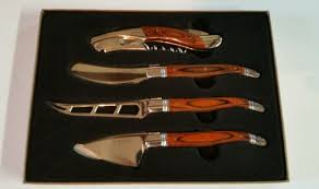 laguiole kitchen knives factory laguiole 4pc wine and cheese stainless steel set ebay