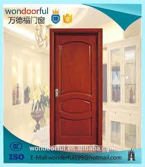 solid wooden main entrance single door design models with door