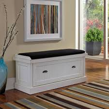 White Bedroom Storage Bench Home Styles Nantucket Distressed Upholstered Storage Bench Hayneedle