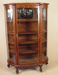 curved glass china cabinet larkin co oak curved glass china cabinet