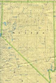United States Map With Lakes And Rivers by Nevada Outline Maps And Map Links
