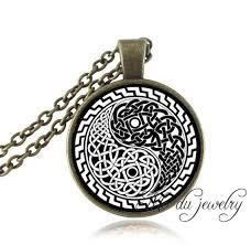 aliexpress vintage necklace images Yin yang oriental jewelry chinese picture paper cut necklaces jpg