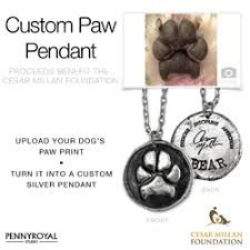 personalized paw print necklace custom paw print jewelry to benefit cesar millan foundation pr