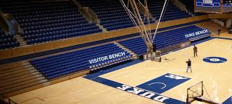 Stadium Bench Which Seats Are Behind The Duke And Visitor Benches At Cameron