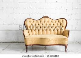blue vintage classical style sofa bed stock photo 118543963