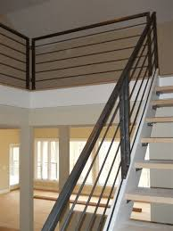 Interior Banister Railings Floor Amusing Metal Stair Rail Metal Stair Rail Spindles Custom