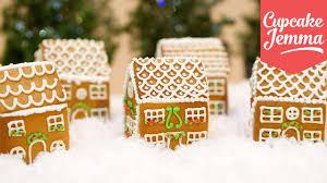how to make mini edible gingerbread houses cupcake jemma youtube