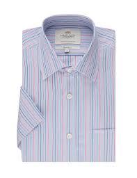 men u0027s blue u0026 coral multi stripe tailored fit short sleeve shirt