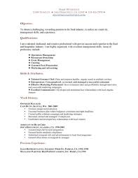 resume objective resume objective exles for restaurant resume objective