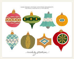 8 vintage ornament digital clip