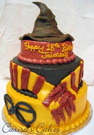 3 tier halloween birthday cake carisa u0027s cakes 3 tiered harry potter birthday cake