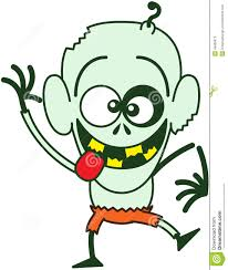 cool halloween zombie making funny faces stock vector image