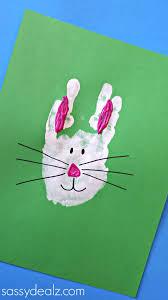 handprint halloween craft bunny rabbit handprint craft for kids easter idea crafty morning