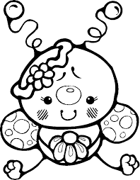 cute insect coloring pages coloringstar