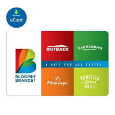 gift card email bloomin brands egift card various amounts email delivery