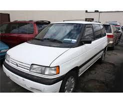 mazda van 1993 mazda mpv passenger van white vin jm3lv522xp0510044