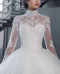 wedding dresses high fanciest women s vintage high neck sleeve wedding dresses for