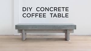 Concrete Coffee Table Diy Coffee Table With A Concrete Top