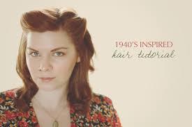 1940s hair styles for medium length straight hair 1940 s inspired hair tutorial the titled blog