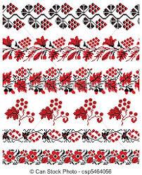 ukrainian embroidery ornament vector illustrations of clip