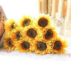 sunflower wedding bouquet elefan 24 artificial sunflower bridal wedding bouquet