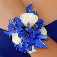 blue orchid corsage blue bliss corsage
