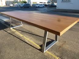 Table Chene Massif Moderne by Table Basse Plateau Bois Pied Metal U2013 Phaichi Com