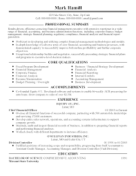 summary of qualifications on a resume professional financial management executive templates to showcase resume templates financial management executive