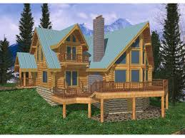 multi level homes freeland creek a frame log home plan 088d 0002 house plans and more