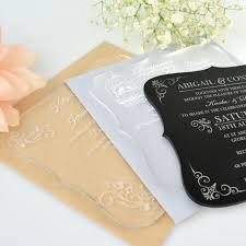 c6 engraved acrylic wedding invitations with rounded edges