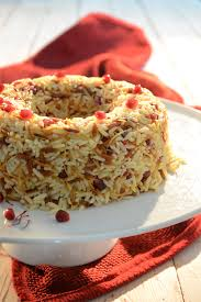 safran cuisine rice with safran fried hair and pomegranate