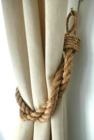 Rope Tiebacks For Curtains Rustic Manila Rope Curtain Tiebacks Shabby Chic Ties Vintage