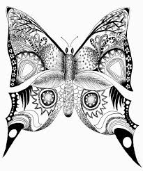 abstract butterfly coloring pages