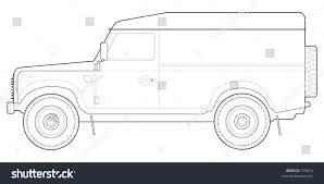 vintage land rover defender 110 land rover defender 110 hard top stock vector 778874 shutterstock